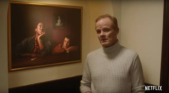 Mr Groff gives an art history lesson in the announcement teaser (Credit: Netflix)