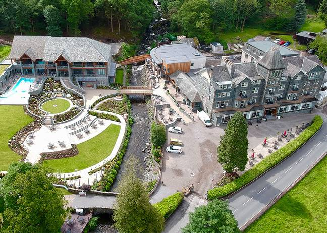 If you choose to stay at the hotel after the meal you will get to enjoy the beautiful scenery and the spa (Credit: Lake District Hotels)