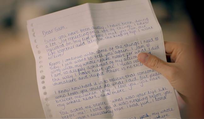 Reza delivered the letter to Sam (Credit: Made In Chelsea/E4)