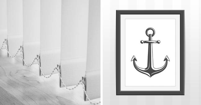 It's a no to nautical wall art and vertical blinds (Credit: Shutterstock)