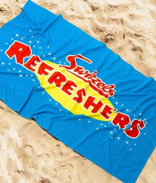 They're also selling a Refreshers beach towel, £19.99. Credit: Swizzels