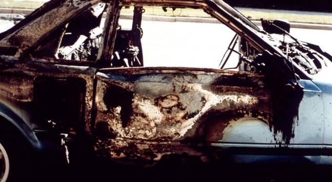 Hofmann gave the game away when his own car exploded (Credit: Netflix)