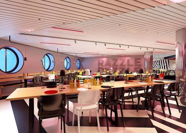 The Razzle Dazzle restaurant will feature a naughty and nice menu. (Credit: Virgin Voyages)