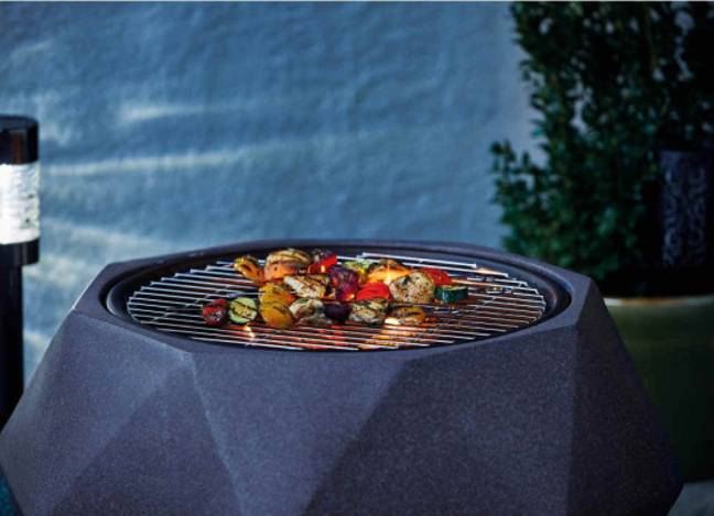 The heater also doubles up as a barbecue (Credit: Aldi)