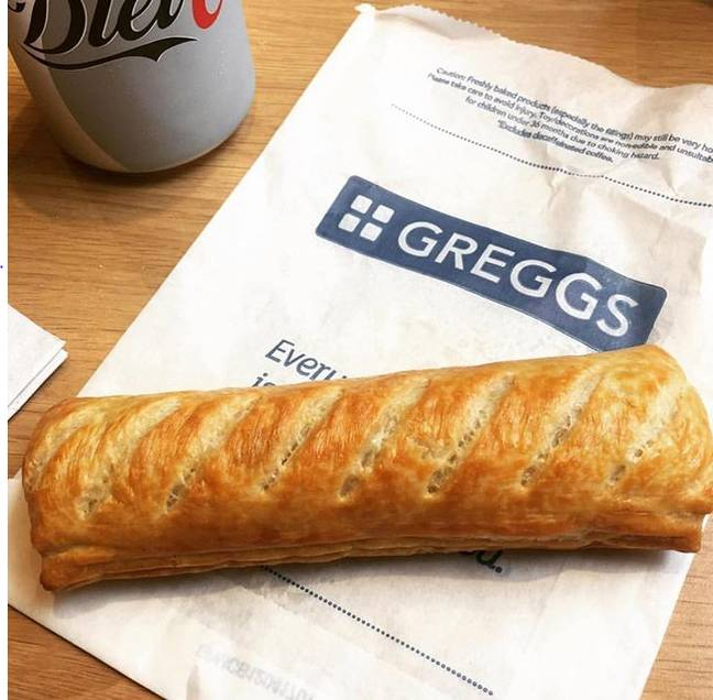 We could almost taste the sausage rolls (Credit: Greggs/Instagram)