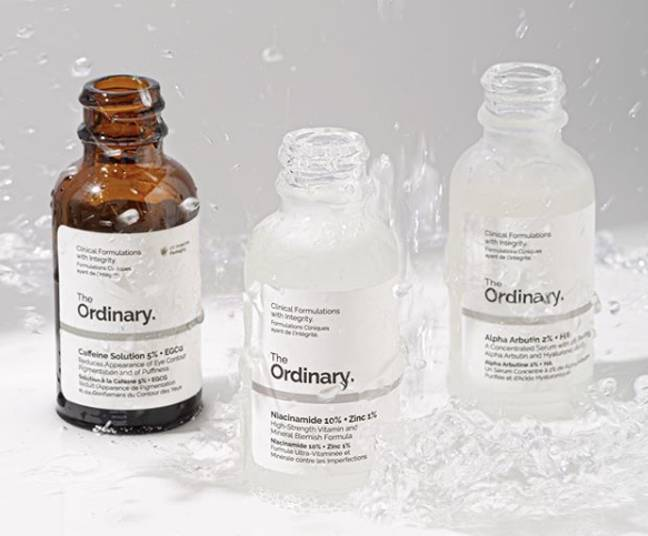 The Ordinary products are almost a quarter the price as normal this month (Credit: The Ordinary)