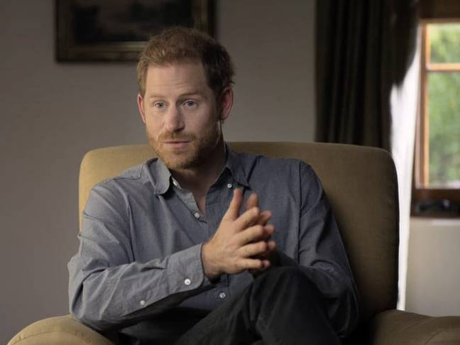 Prince Harry speaks on mental health with Meghan in the new trailer (Credit: Apple TV)
