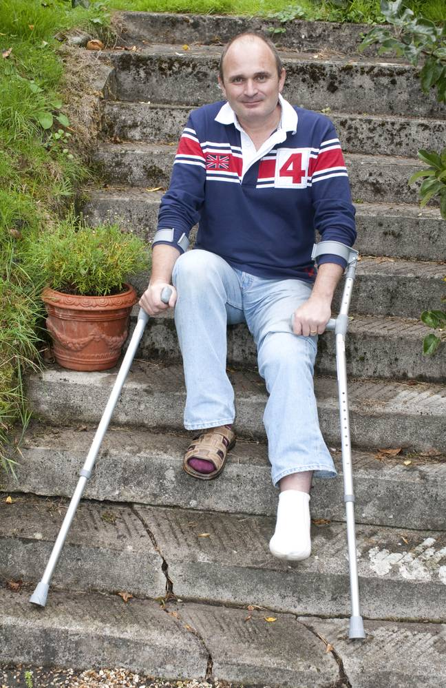 In 2010, the cheating Major unfortunately sliced off three of his toes in a garden lawnmower accident (Credit: Shutterstock)
