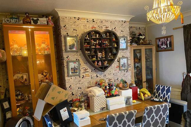 Her home is bursting at the seams with Disney gear (Credit: Caters)