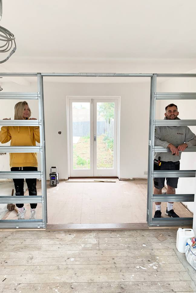 The couple spent two years renovating the home (Credit: Caters)