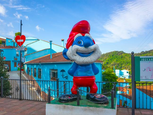 There's Smurf statues at every corner (Credit: Shutterstock)