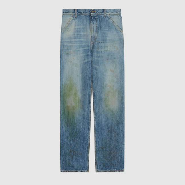 Gucci's 'Eco washed organic denim pant' costs a cool £600 (Credit: Gucci)