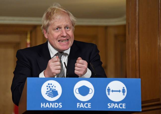 Boris addressing the nation on Saturday (Credit: PA)