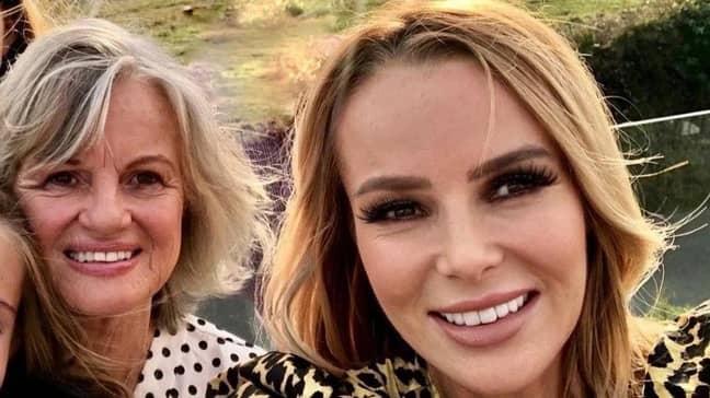 Amanda Holden and her mum before Friday's incident (Credit: Amanda Holden/Instagram)