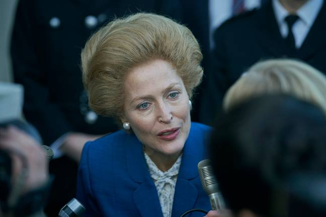 The fourth season also introduces fans to Gillian Anderson's portrayal of Margaret Thatcher (Credit: Netflix)