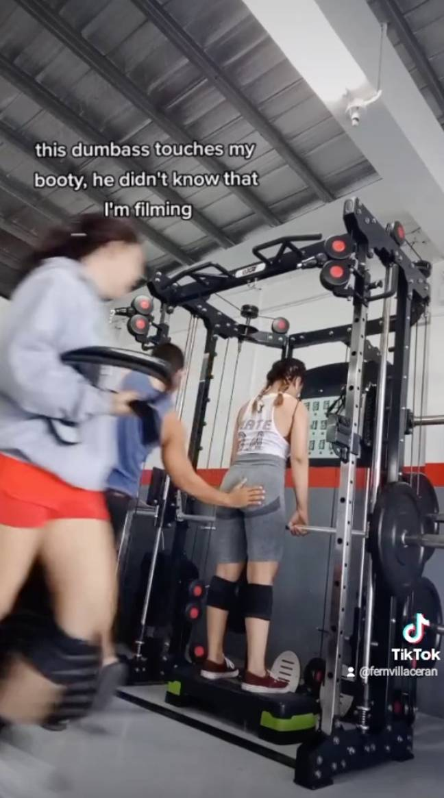 Fern uploaded the video to TikTok (Credit: Jam Press)