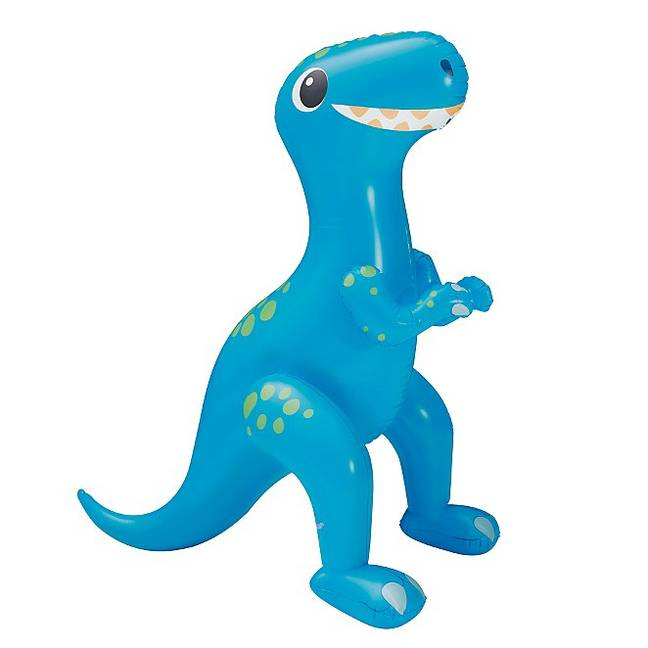 Standing at 213cm tall, the friendly-looking dino sprays a fountain of water (Credit: Asda)