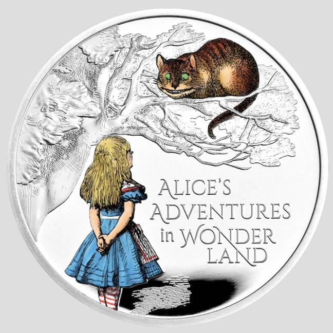 Alice in Wonderland has been immortalised in coin form (Credit: The Royal Mint)