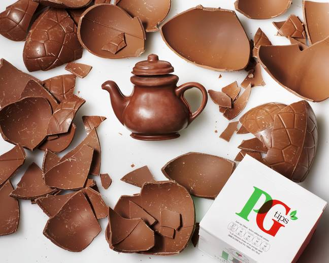 It's made from the finest artisanal milk chocolate and accompanied with 40 PG tips tea bags (Credit: PG Tips)