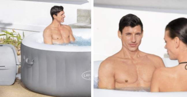 The hot tub can be enjoyed by three people at once (Credit: B and Q)