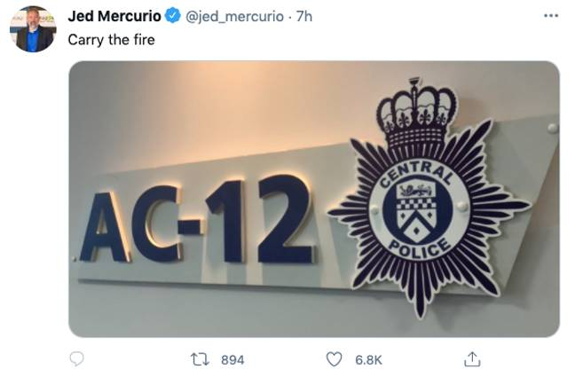 Line of Duty creator Jed Mercurio confused fans with this Tweet (Credit: Twitter)