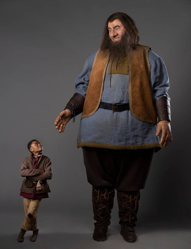David Walliams dressed up as the giant in Jack and the Beanstalk: After Ever After (Credit: Sky One)