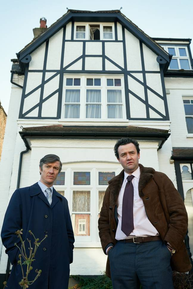 The crimes took place in two of Nilsen's flats in north London (Credit: ITV)
