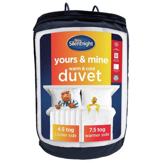 The duvet features two different togs (Credit: Silentnight)