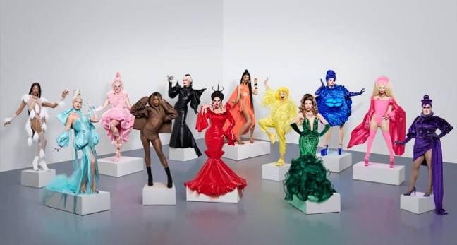 12 Drag Race Queens are looking to take the crown (Credit: Drag Race UK)