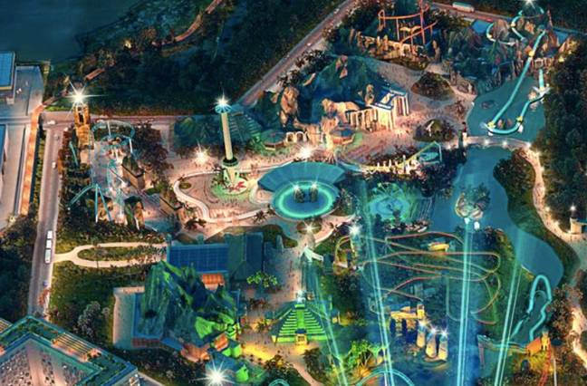 Check out The Jungle, bottom centre (Credit: The London Resort)