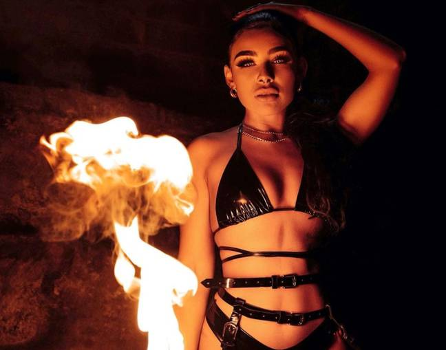 Love Island 2021: Alexis Bailey is a professional fire-eater and aerial dancer (Credit: Instagram/alexis.baileyyx)