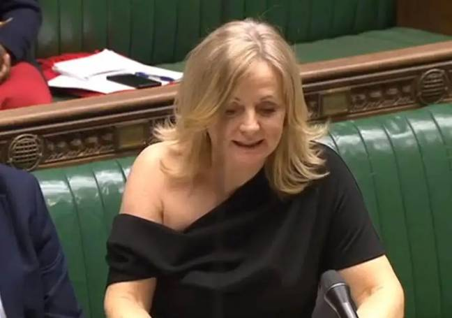 Tracey Brabin wears off-the-shoulder dress in parliament (Credit: UK Parliament)