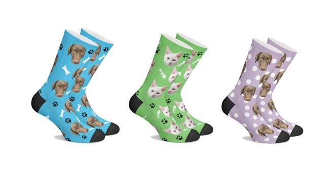 The cute socks come in a range of colours and patterns (Credit: Lovimals)