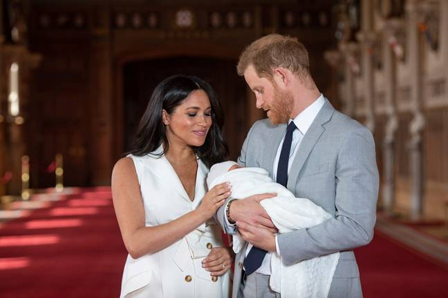 Meghan and Harry share baby Archie (Credit: PA Images)