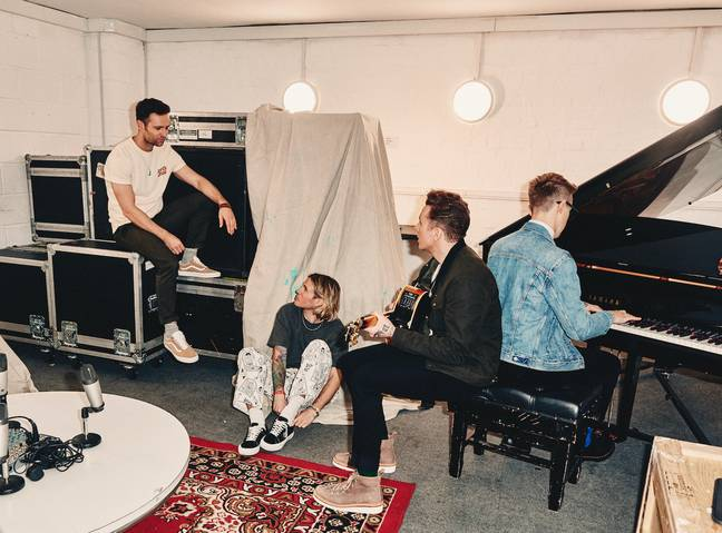 McFly have rented their own HQ in London to deliver the exclusive content (Credit: McFly Total Access)