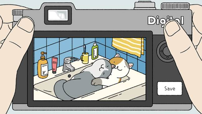 The game lets you play with virtual kitties (Credit: Adorable Home / HyperBeard)