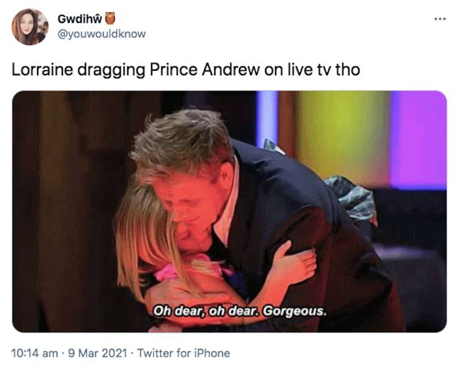 People were pleased Lorraine had called out the hypocrisy (Credit: Twitter)