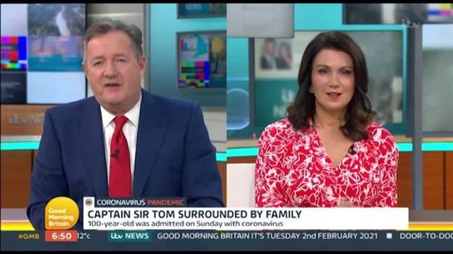 Piers and Susanna defended the war veteran (Credit: ITV)
