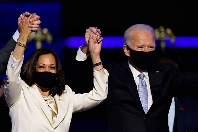 Biden is now President Elect and Harris is Vice President Elect (Credit: PA)