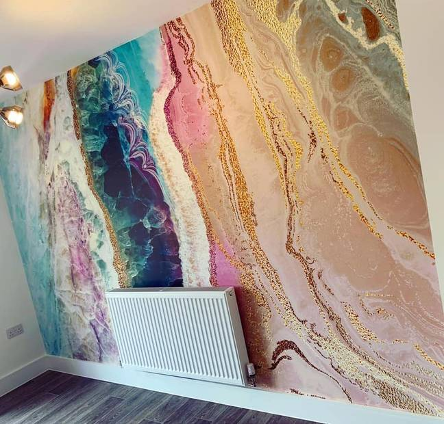 The colourful and contemporary wallpapers are perfect for creating a striking feature wall (Credit: Sophie Nicholls)