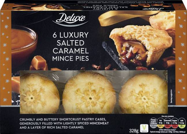 One of the decadent mince pies available as part of the Lidl Christmas range (Credit: Lidl)