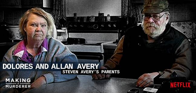 Dolores and Allan Avery ' Credit: Twitter/Making A Murderer