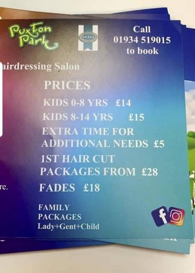 The Krazy Kids hair salon was based at Puxton Park near Weston-super-Mare (Credit: SWNS)