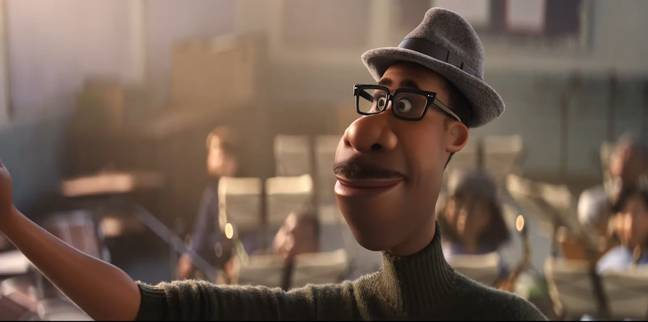 Soul is Pixar's first film to feature an African-American lead character. Joe is voiced by Jamie Foxx (Credit: Disney/Pixar)