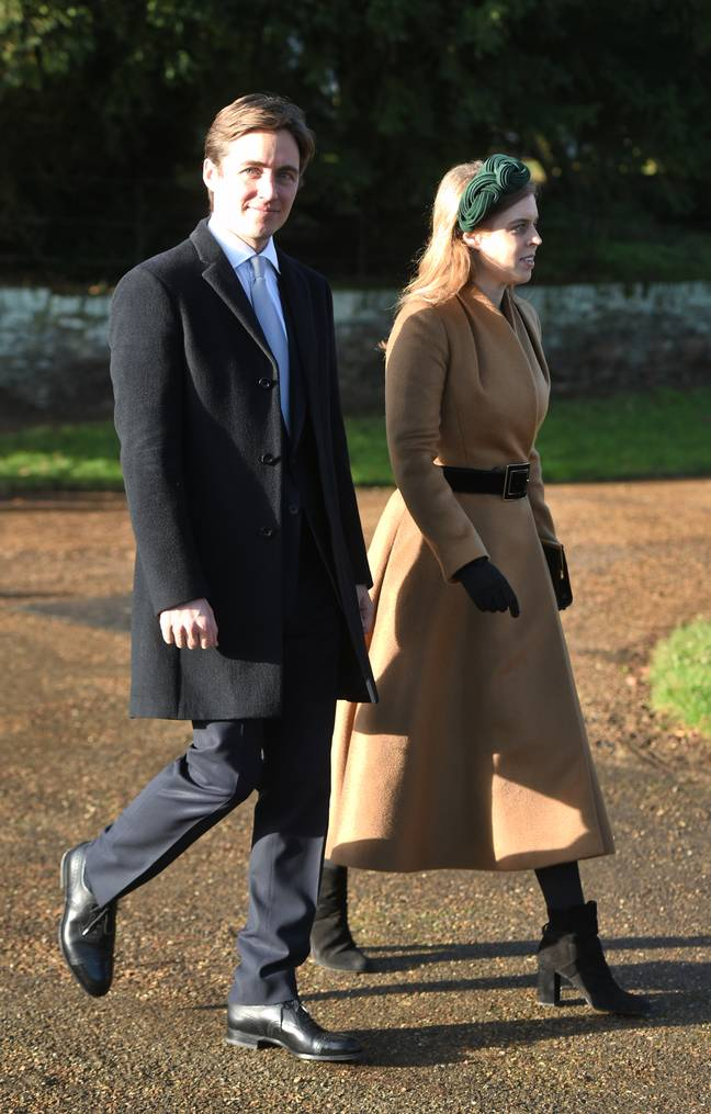Princess Beatrice and Edo had a small Covid-secure ceremony (Credit: PA)