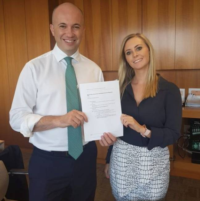 Emma has said that the Animal Justice Party will now focus on passing similar regulations in Queensland (Credit: Emma Hurst/Facebook)