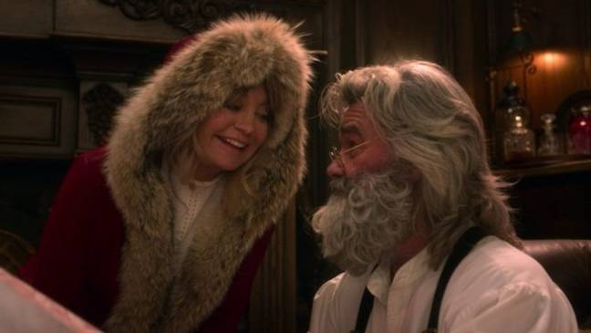 Kurt Russell and real-life partner Goldie Hawn will reprise their roles as Mr and Mrs Claus (Credit: Netflix)