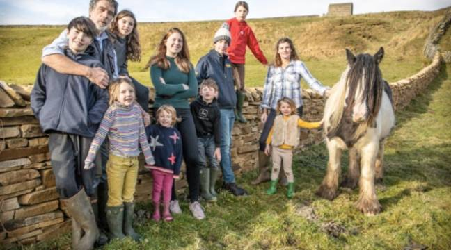 Our Yorkshire Farm follows the Owen family who live and work in rural Yorkshire (Credit: Channel 5)