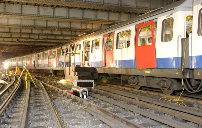 Damage on the Circle Line, where a bomb had also gone off (Credit: Shutterstock)