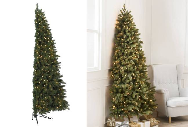 You can snap up the 6ft Chelsea Flatback Artificial Christmas Tree for £59.90 (Credit: Amazon)